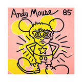 Andy Mouse 1985 Tableau sur toile par Keith Haring