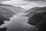 USA, Oregon, Aerial Landscape Looking West Down the Columbia Gorge Tableau sur toile par Rick A Brown