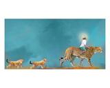Cheetah Walk Tableau sur toile par Nancy Tillman