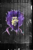 Jimi Hendrix Graffiti NYC Tableau sur toile
