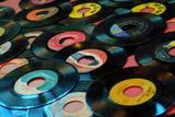 Collection of Vinyl Records, Wildwood, New Jersey, Usa Tableau sur toile par Julien McRoberts