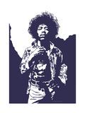 Jimi Hendrix - Purple Haze Tableau sur toile par Emily Gray