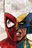 Moon Knight No.5 Cover: Spider-Man and Wolverine Tableau sur toile par Alex Maleev