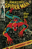 Marvel Comics Retro: The Amazing Spider-Man Comic Book Cover No.100, 100th Anniversary Issue (aged) Tableau sur toile