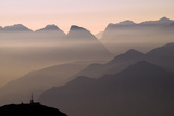 Alpine Sunset Tableau sur toile par Lorenzo Rieg