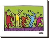 Untitled, 1987 (dance) Tableau sur toile par Keith Haring