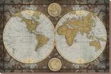 Carte du monde Tableau sur toile par Elizabeth Medley