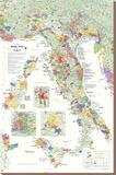 Carte des vins en Italie Tableau sur toile