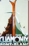 Eté-hiver Chamonix Mont-Blanc Tableau sur toile par Henry Reb