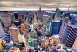 Empire State Building and Midtown Manhattan Tableau sur toile par Through The Lens