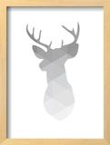 Grey Geometric Deer