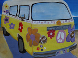 The VW Volkswagen Bully Series - The Lady Flower Power Surf Bus