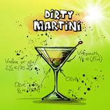 Dirty Martini Docktail