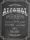 Alcohol Salad