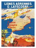 France - Spain - Morocco - Lignes Aeriennes (Aéropostale)
