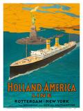 Rotterdam to New York City - Holland-America Line - Statue of Liberty