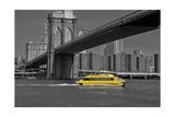 Ny Water Taxi under Brooklyn Bridge
