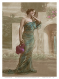 Classic Vintage Hand-Colored Tinted French Nude - Erotic Art