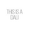 This is a Dali Tableau sur toile