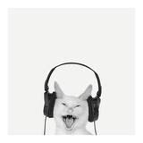 Rockin' Kitten Reproduction d'art par Jon Bertelli
