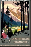 Mt Blanc Chamonix Hiking Poster
