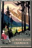 Mt Blanc Chamonix Hiking Poster