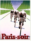 Paris soir Bicycle Race Poster