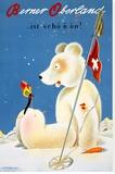 Swiss Berner Oberland Snow Ski Poster