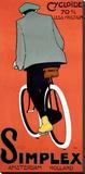 VINTAGE 1915 DUTCH SIMPLEX BICYCLE POSTER