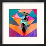 Abstract Watercolor Geometric Background Reproduction encadrée par Tanor27