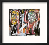 Dustheads, 1982 Reproduction encadrée par Jean-Michel Basquiat