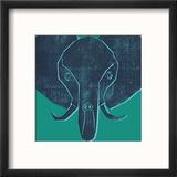 Eléphant Reproduction encadrée