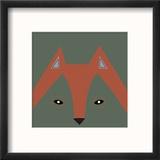 Fox Face Reproduction encadrée