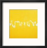 Yellow Journey Reproduction encadrée par Charlie Millar