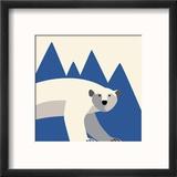 polar bear mountain Reproduction encadrée