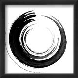 Black Calligraphic Brush Reproduction encadrée par Oriontrail2