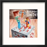Builders Unite 2 Reproduction encadrée par Jennifer Redstreake Geary