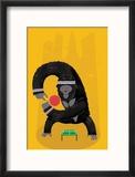 King Kong Ping Pong Reproduction encadrée par Chris Wharton
