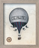 Vintage Hot Air Balloons II Reproduction encadrée par Naomi McCavitt
