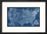 US Map Blueprint Reproduction encadrée par Vision Studio