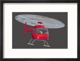Hélicoptère Reproduction encadrée
