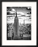 Cityscape, Empire State Building and One World Trade Center, Manhattan, NYC Reproduction encadrée par Philippe Hugonnard