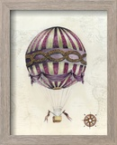 Vintage Hot Air Balloons I Reproduction encadrée par Naomi McCavitt