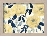 Fleurs D'or et Bleu II Reproduction encadrée par Grace Popp