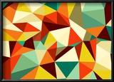 Trendy Vintage Geometric Seamless Pattern Reproduction encadrée par Cienpies