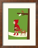 Le petit chaperon rouge Reproduction encadrée par Dicky Bird