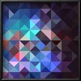 Unusual Vintage Abstract Geometric Pattern Reproduction encadrée par Cienpies