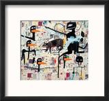 Tenor, 1985 Reproduction encadrée par Jean-Michel Basquiat