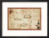 Wine Map Reproduction encadrée par Daphne Brissonnet