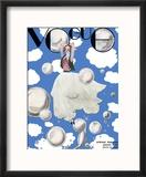 Vogue Cover - January 1932 - Clouds and Bubbles Reproduction encadrée par Georges Lepape